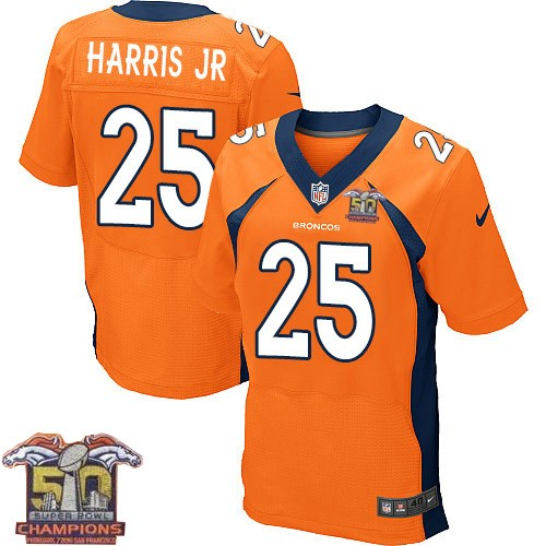 best loved bcb02 3cf49 mens elite chris harris jr orange jersey home 25 nfl denver ...